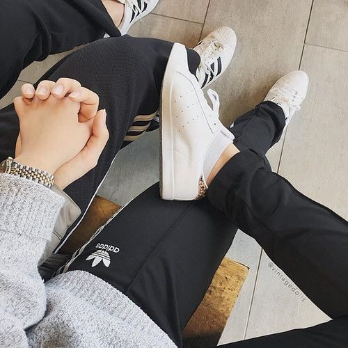 adidas, boy, couple, couples, hands