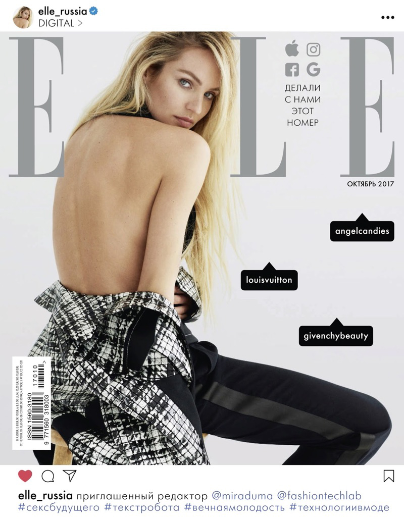 candice swanepoel, celebrity, cover, elle, fashion editorial