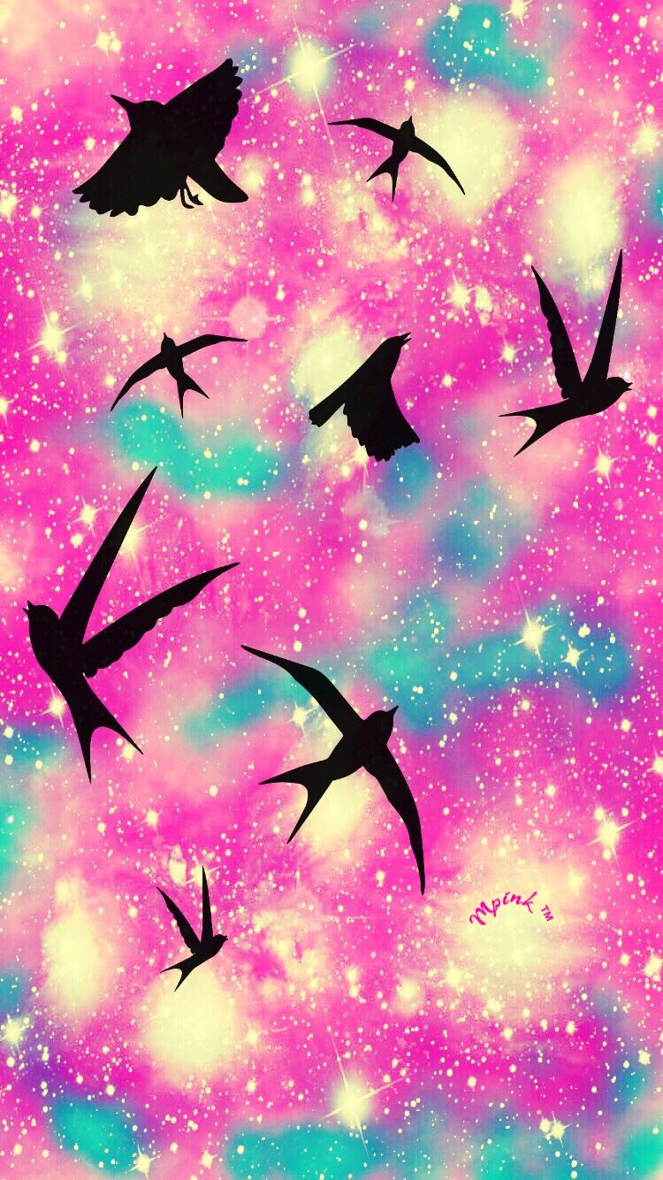 animals, art, birds, cute, galaxy