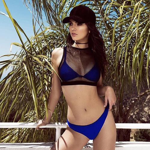 blue, body, brunette, cap, fashion