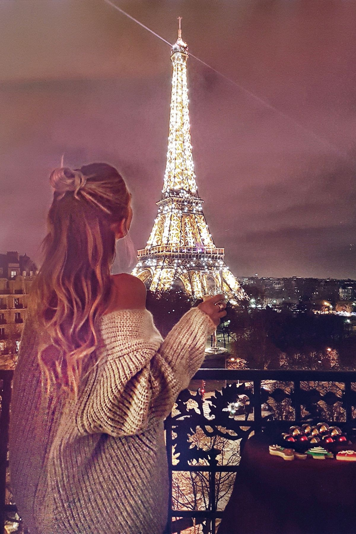 aesthetic, cute, france, girly, lights