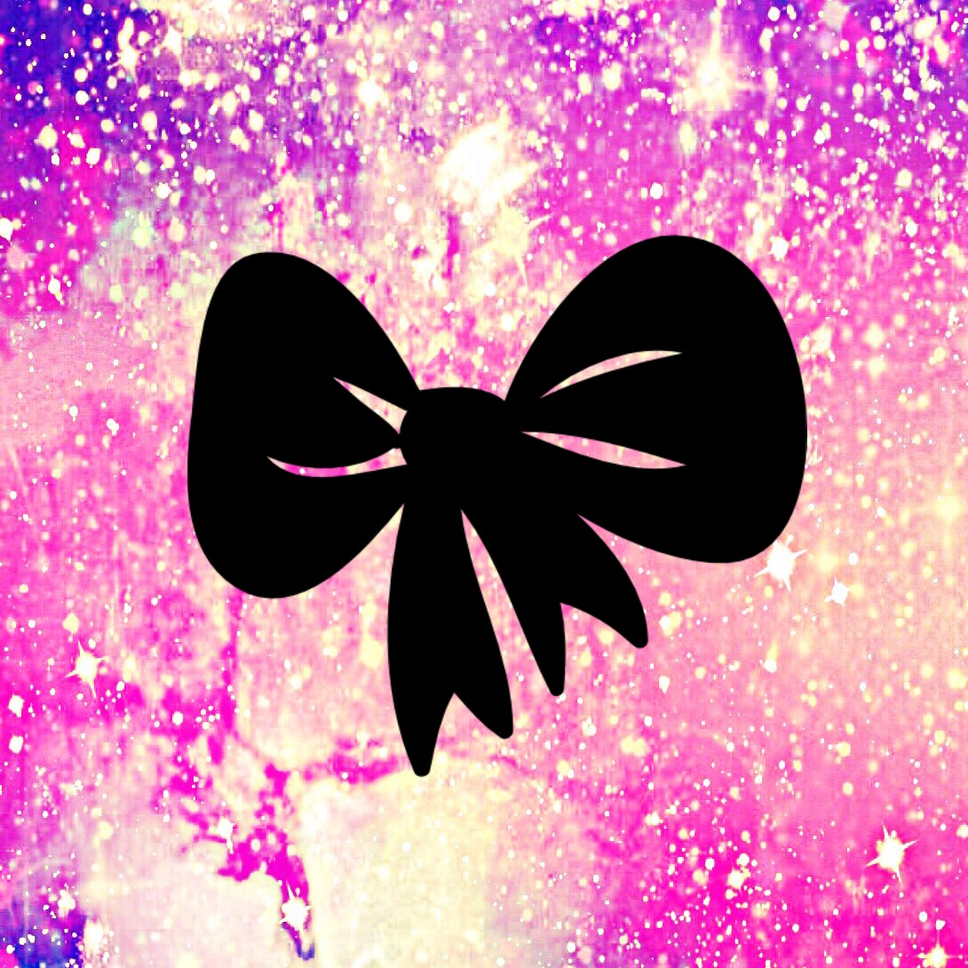 bow, cute, galaxy, girly, glitter