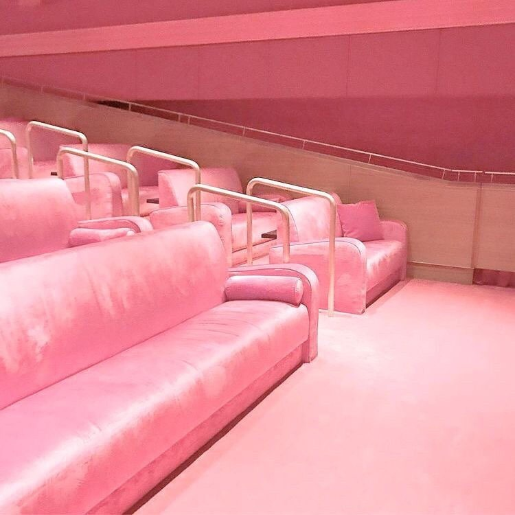 cinema, night, pink, places, theater