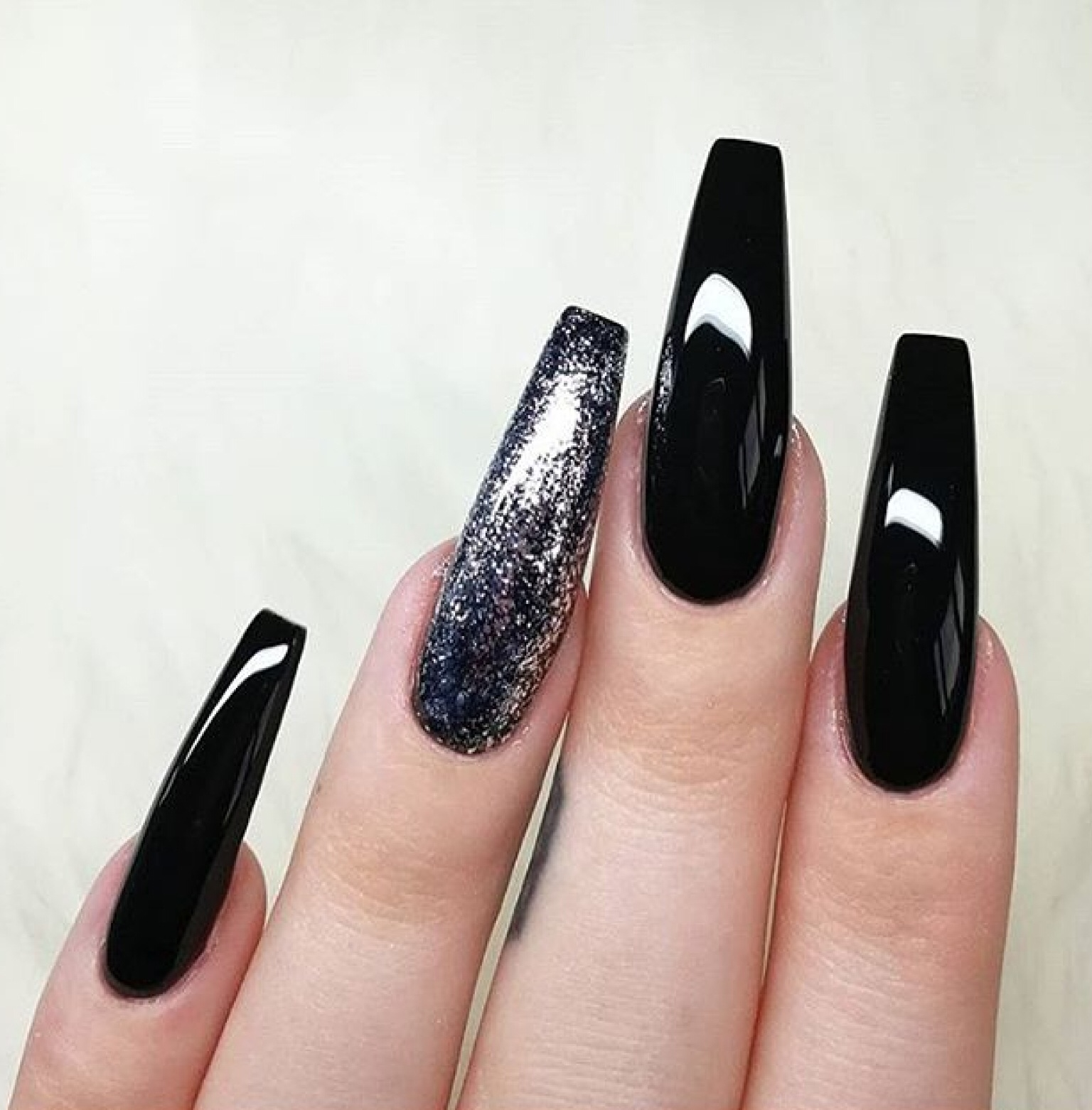 black, glitter, nail, nails, nails art