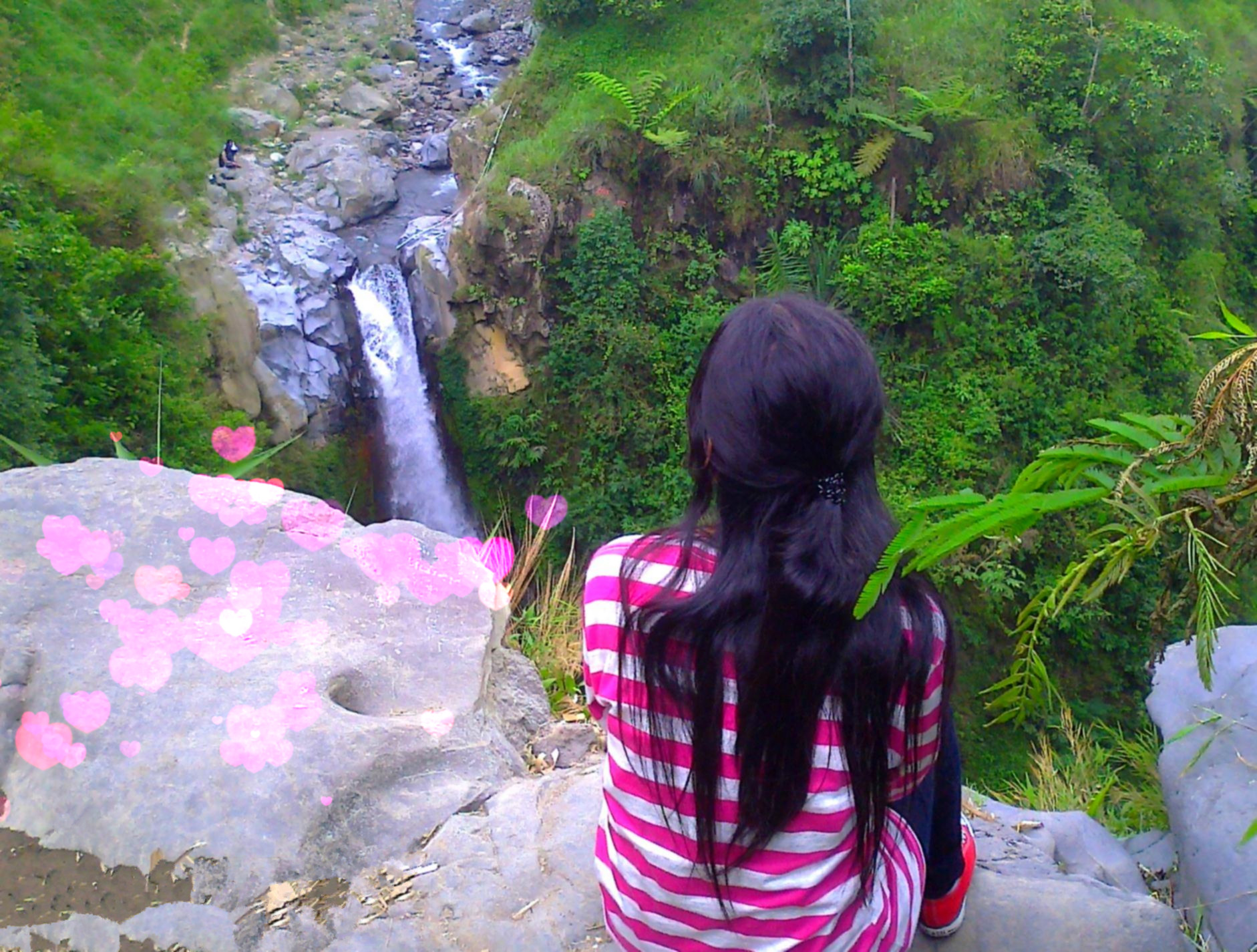 alone, favim, girl, hairs, nature