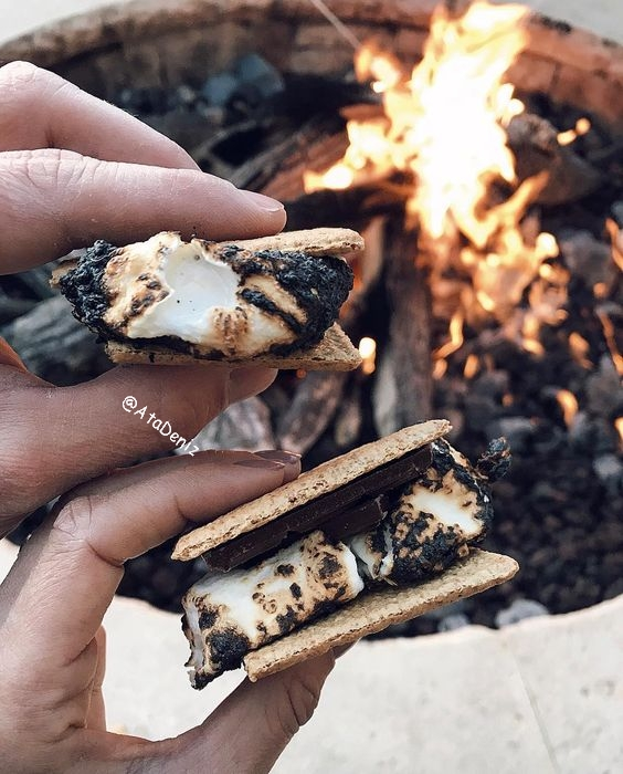 campfire, cookies, holiday, marshmallow, roasting