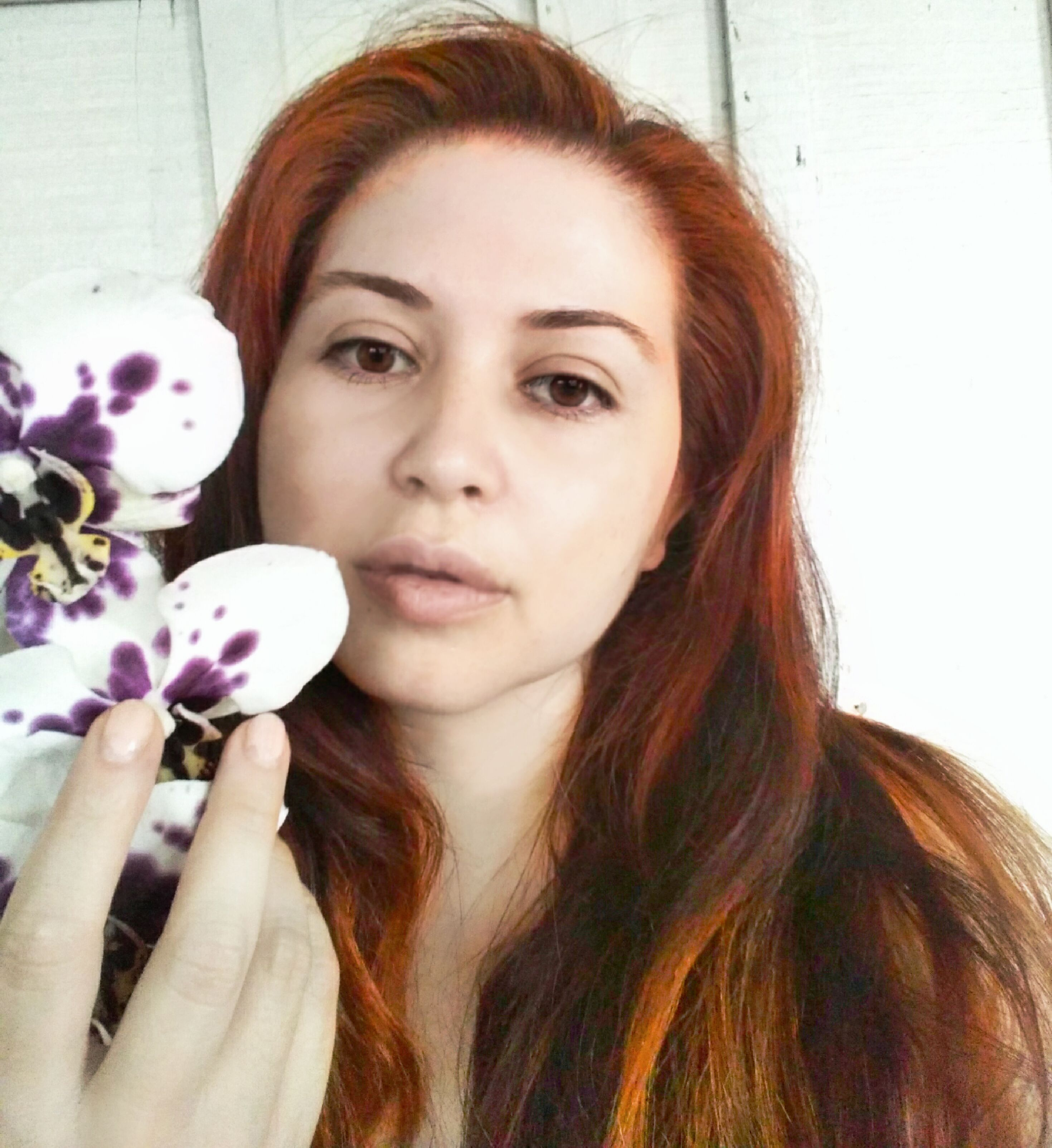 beauty, cute, face, flowers, ginger