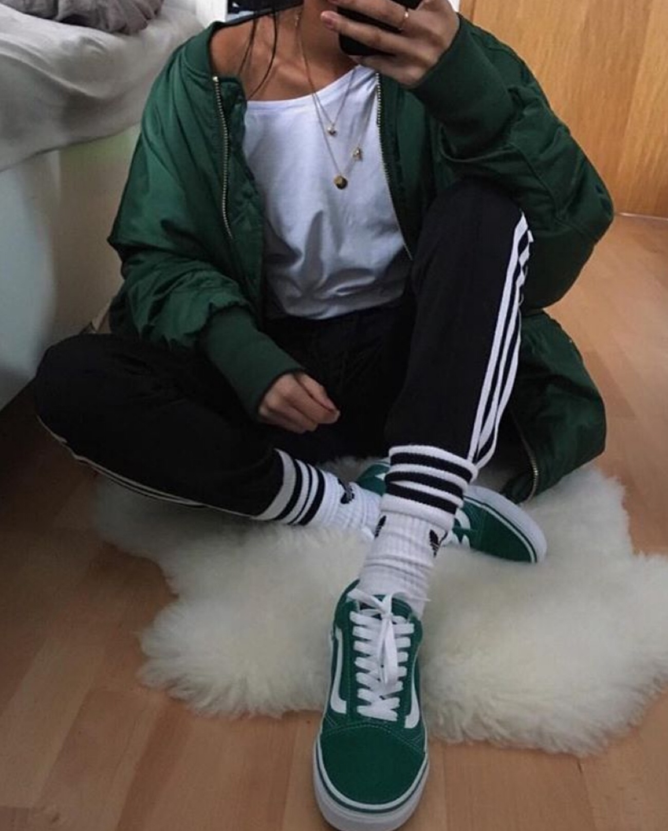 adidas, clothing, fashion, green, ootd