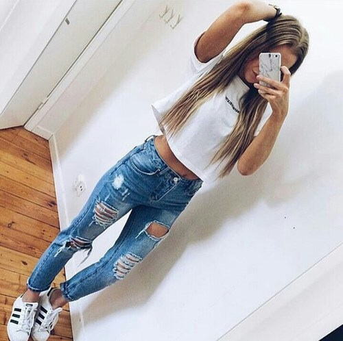 adidas, clothing, crop top, fashion, jeans
