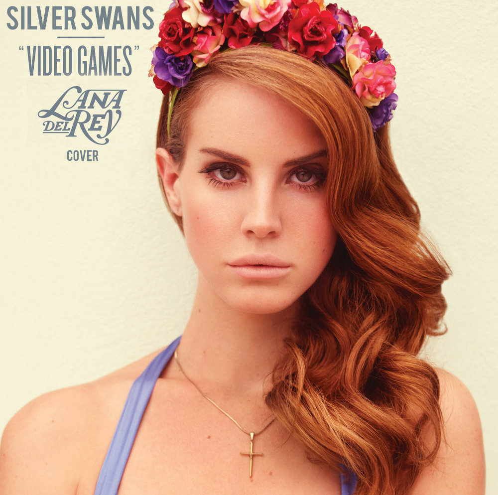cover, fashion, lana del rey, video games, silver swans