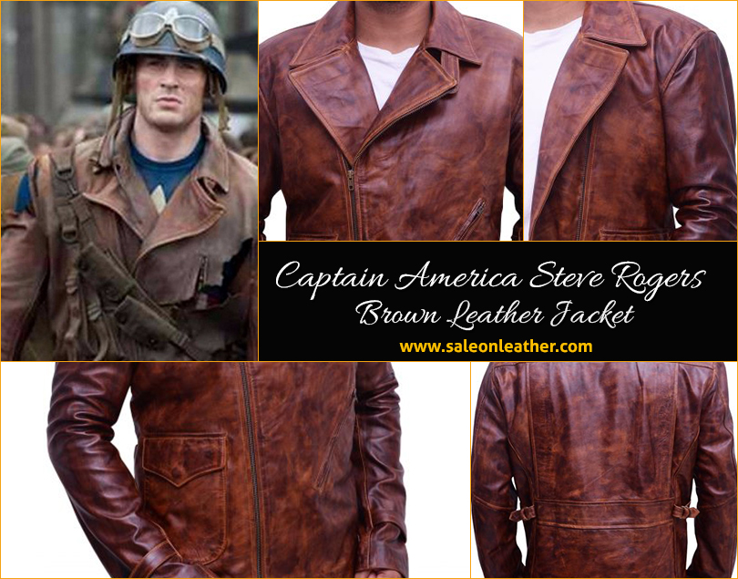 captain, rogers, brownleather, saleonleather, americajacket
