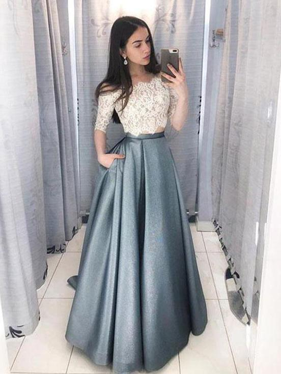 Gorgeous Prom Dresses, Two pieces Prom Dress, Prom Dresses 2018, prom dresses unique, prom dresses elegant