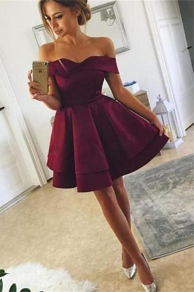 beautiful, beauty, burgundy, cheap, cocktail dresses