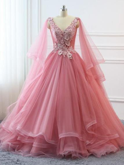 fashion, girl, lace, pink prom dress, prom dress
